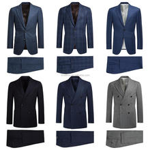 2017 One-stop Factory of Man Double Breasted Wool Suit with Factory Wholesale Prices