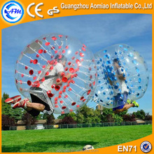 Top quality Dia 1.5m 0.8mmPVC red/blue dots body zorb,bubble soccer ball