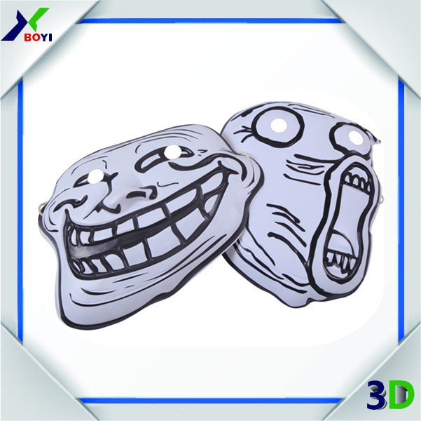 2015 Hot Sale Plastic Horror Masks Halloween Masks