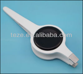 White colored plated with big button shape smd hot tweezers