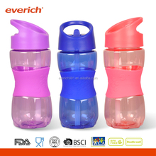Everich wholesale bpa free plastic water bottle With Straw and Silicone Sleeve