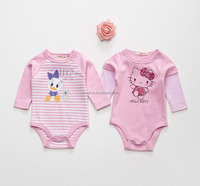 baby rompers babysuit with front print and oeko-tex 100 certificate, high quality cotton