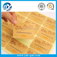 Wholesale custom easy peel off sticker with high quality