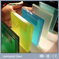 Curved Color Tempered Laminated Glass