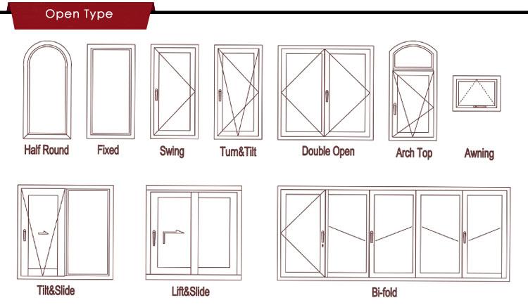Professionally Design Of Aluminum Windows For Fixed Glass