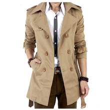 Promotion hot sale Cotton/Polyester material Men's Trench Fashion Autumn Coat for Men New Designer Popular Trench Men