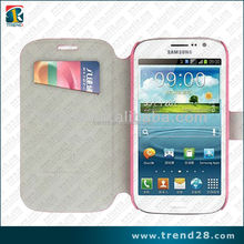 flip wallet leather case for samsung galaxy grand duos i9080