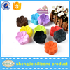 2016 Amazon 12packs Mini Diy silicone baking cups beautiful flower chocolate cake mold