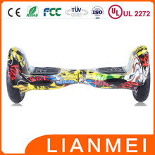CE UL2272 10 inch two wheels electric scooter self balancing hoverboard with bluetooth speaker