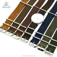 Military G10 Leather Strap Replacement Integrated Watch Bands