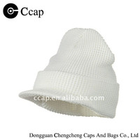 2015 acrylic white knitted hat