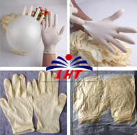 Class 1000 White Disposable Latex Gloves