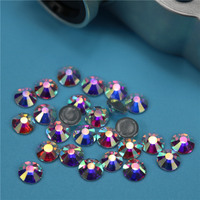 High quality low price Wholesale 12ss new crystal ab rhinestone transfer hot fix strass motif