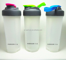 700 ml single wall PP shake tumbler coffee cup with PP cap and Metal shaker Ball