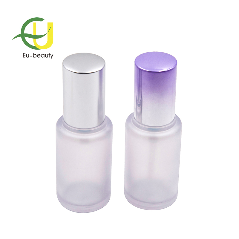 factory cheap price High quality  30ml PETG cylinder-shaped frosted cream pump bottle