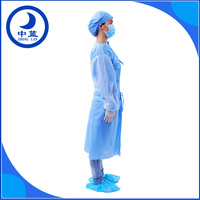 medical surgical gown standard or reinforced disposable hospital gowns