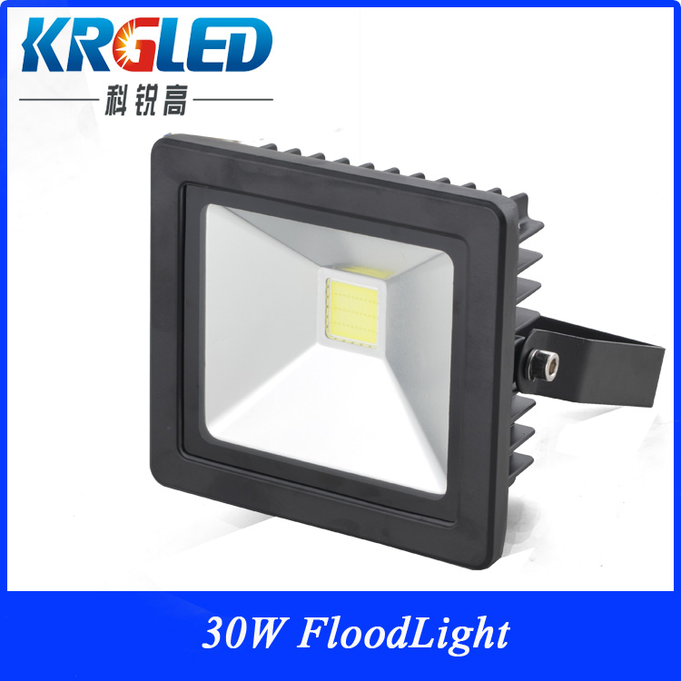 die cast aluminum led flood light housing 30W black shell ce rohs DC12-36V