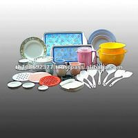 Melamine Plain Color Kitchenware With Decals
