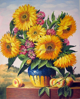 Beautiful Sunflower Design Has Enjoying Great Popularity DIY Oil Painting