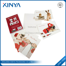 XINYA Hot Sale Printing Different Shapes Christmas Greeting Cards With Envelope Pocket