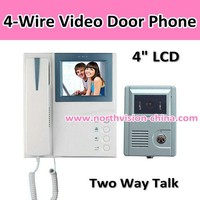 4 inch video door bell with hand-free intercom night, vision, two-way communication, different ring tones for choice