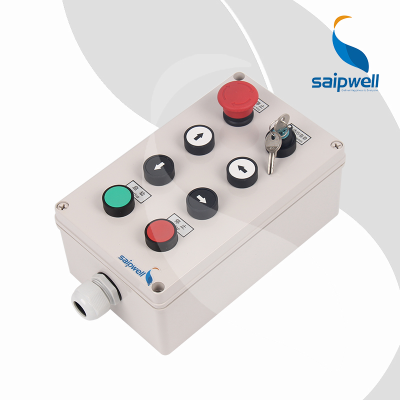 SAIPWELL <strong>J</strong> 8 Ways Machine Motor Move Direction Industrial Control Panel Enclosure
