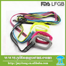 China factory directly supply silicone dog leash with braided rope