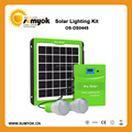 5w solar lighting kit with 2 LED lamps,phone charger 2016 new design hot sales portable