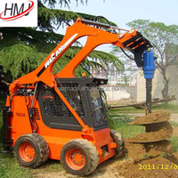 Agricultural machinery small tractor front end loader with earth auger