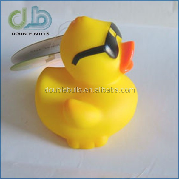 sunglasses aunty rubber bath duck toy /5cm rubber duck for kids bath /green & yellow & red & colorful baby bath duck