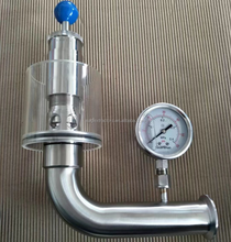 Sanitary Air Release Valve w/ Pressure Gauge, Fermenter Safety Valve