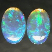 Paired Lightning Ridge Crystal Opals