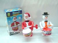 plastic wind up Christmas Santa Claus toy
