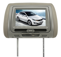 "Black, Gray, Beige Color and Universal Car Use 7"" inch Headrest DVD Player with Audio and Video Input/Output"