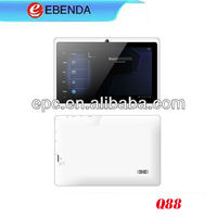 Factory direct selling tablet 512MB+4G.Allwinner A13 USB 3G, bluetooth, 1.3MP front camera