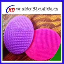 Silicone face brush to remove nose blackhead with silicone cleansing pad Food Grade Silicone Face Cleaning Brush