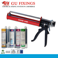 High strong push caulking gun for components epoxy resin adhesive ab