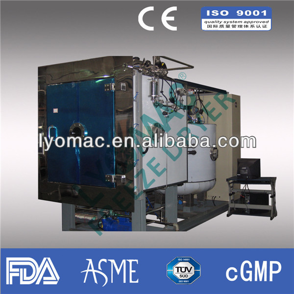 1000KG drying capacity food/fruit/vegetable freeze dryer--Steam heating