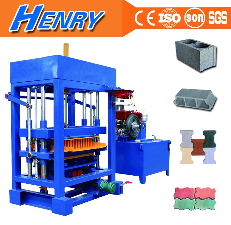 QT4-30 diesel engine Used brick block making machine for sale, concrete block moulds/ molds in uk