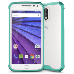 Top Quality Heavy Duty Hybrid Phone Case for Moto G4, Crystal Mobile Cover for Motorola Moto G4
