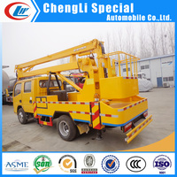16M high lifting platform power line repair 5~6 persons 16m aerial platform truck