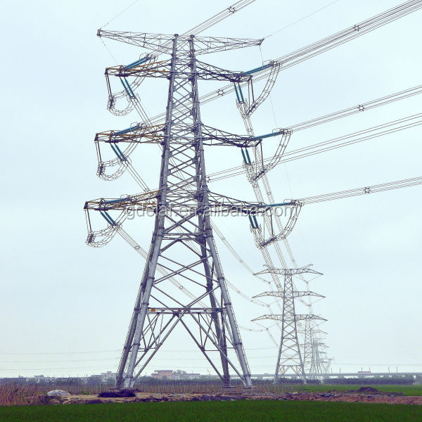 high voltage power transmission tube tower of iron structure