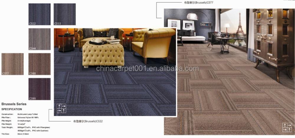 Nylon fice Low Pile Carpet Tiles brusseles A