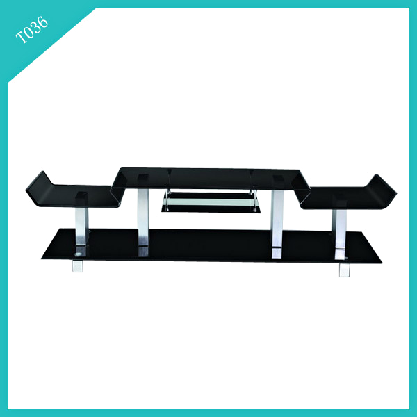 modern hot bent glass TV stand