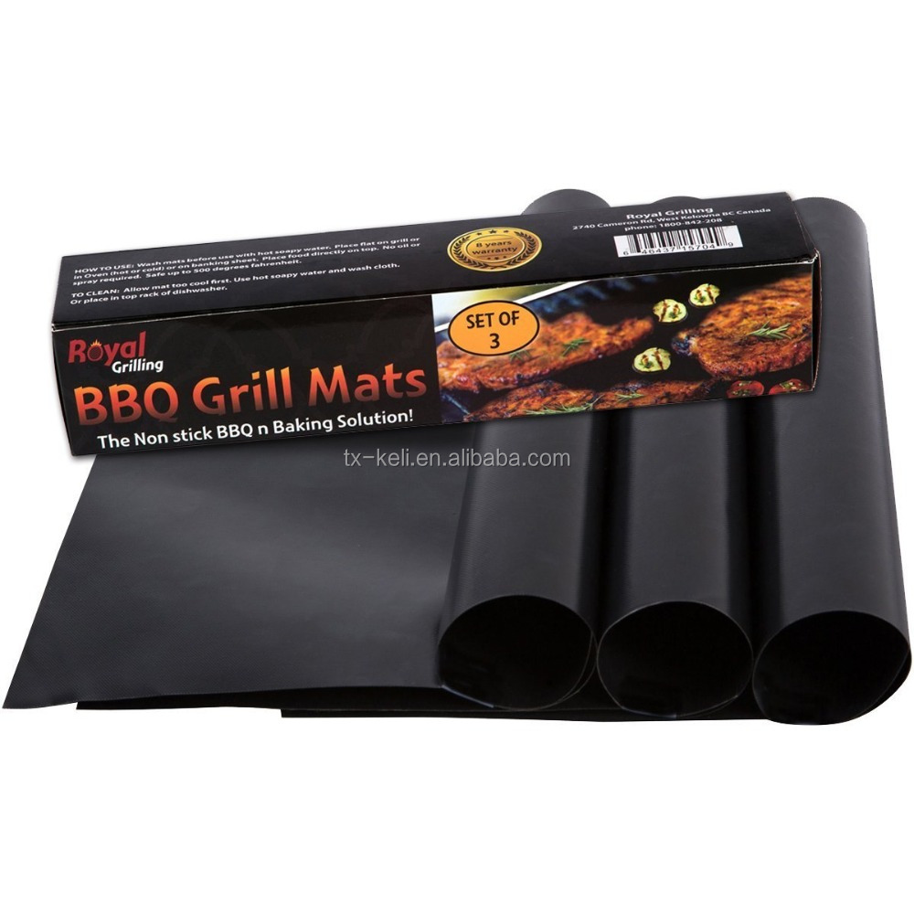 BEST BBQ GRILL MAT - Set of 2 Mats - Up to 400% Thicker Than Miracle, Yoshi, Others Plus 2,000 Uses
