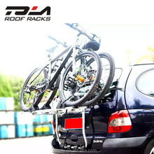 2018 hot sales universal car roof rack folding bike carrier rear mount bicycle rack for 2 bike 2 box