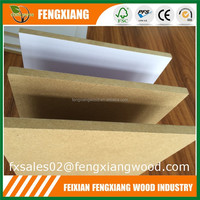 18mm thick mdf board with white melamine paper face
