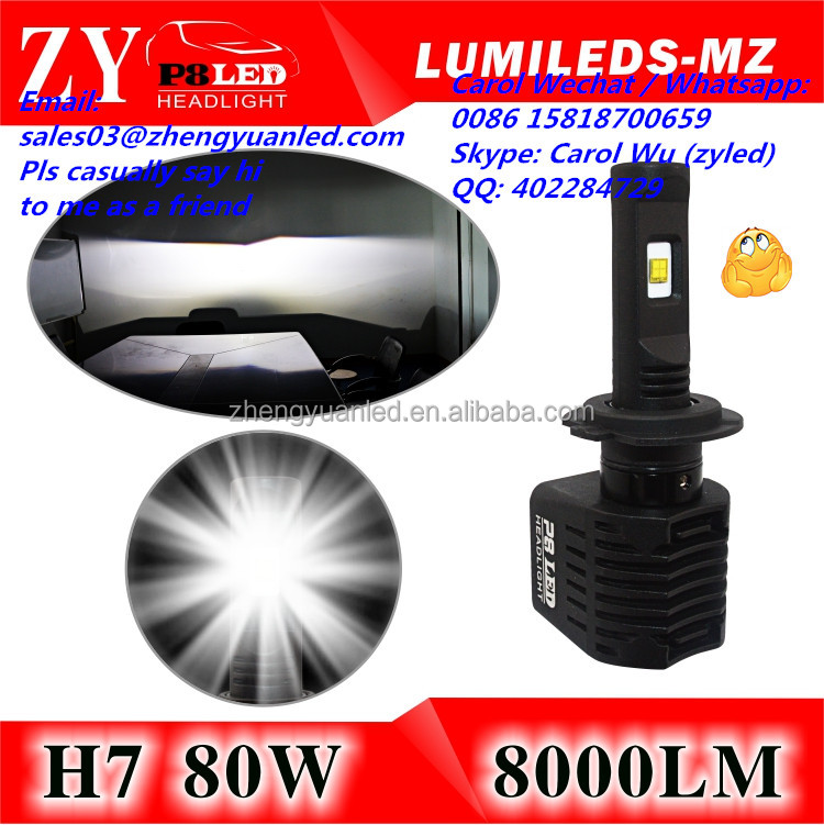 New Product Extremely Bright Car Led Headlight H7 for Projector Lens Car Accessories Shops