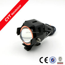 angel eyes 15W 3000lm white/yellow U7 led motorcycle headlight guangzhou LED light