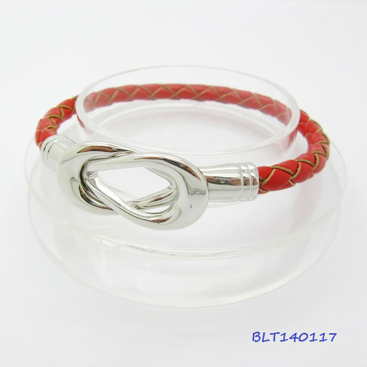 Hot 2013 lady's Tennis Rackets infinity Leather wish magnet bracelet
